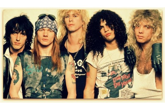 GUNS N' ROSES. The essays on these singers, producers and musicians.
